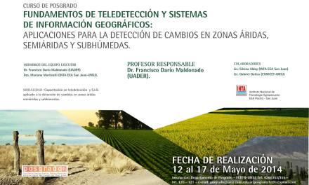 Curso de Posgrado: Fundamentos de Teledetección y Sistemas de Información Geográficos