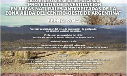 Curso de Posgrado: Proyectos de investigación en áreas naturales antropizadas de las zona árida centro-oeste de la Argentina
