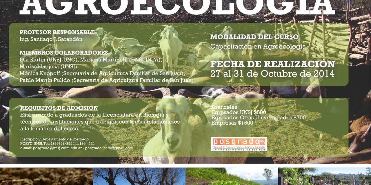 Curso de posgrado en Agroecología