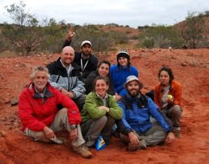 Equipo que hizo el hallazgo paleontológico en Marayes