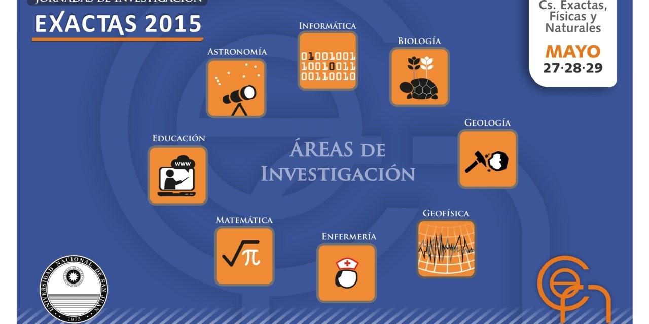"""Jornadas de Investigación """"Exactas 2015"""""""