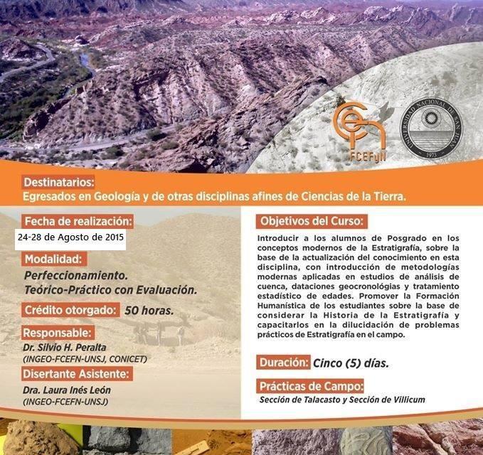 Curso de posgrado: Escuela de Campo: Hacia una estratigrafía integrativa