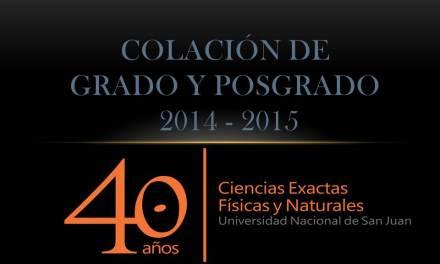 Acto de Colación 2014-2015