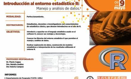 """Posgrado: """"Introducción al Entorno R: manejo y análisis de datos"""""""