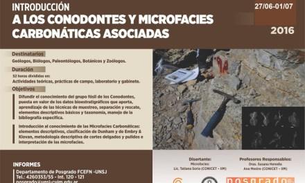 Curso de Posgrado: Introducción a los conodontes y microfacies carbonáticas asociadas