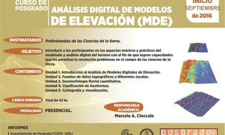 Análisis digital de modelos de elevación (MDE)