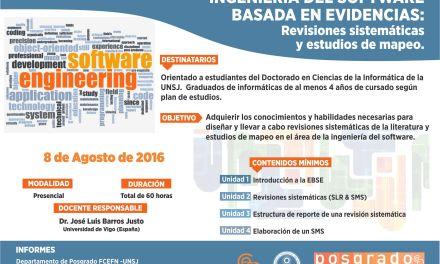 Curso de Posgrado: Ingeniería del software basada en evidencias
