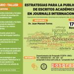 Seminario de Posgrado: Estrategias para la publicación de escritos académicos