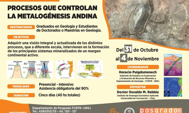 Curso de Posgrado: Procesos que controlan la Metalogénesis Andina