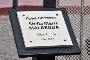 Placa Parque Astronómico Stella Maris Malaroda