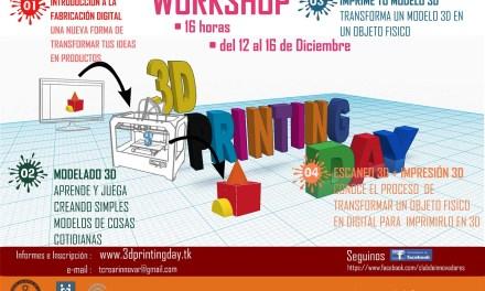 Del 12 al 16 de diciembre, 3D Printing Day