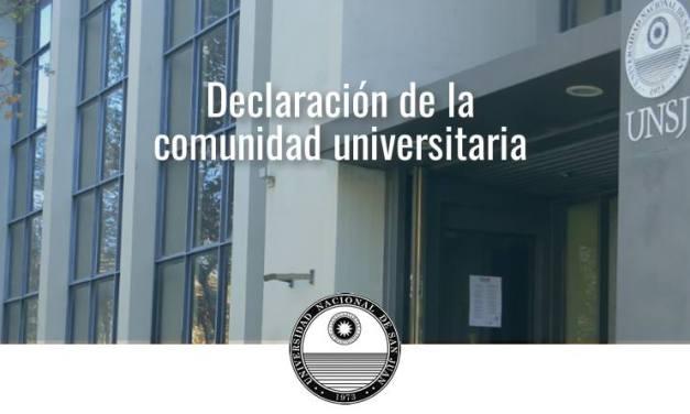 UNSJ: Declaración de Principios de la Educación Superior en Argentina