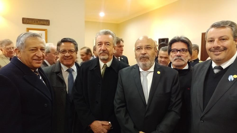 El Gobernador de San Juan recibió a las autoridades de la UNSJ en los festejos del 25 de Mayo
