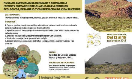 Modelos espaciales de densidad y abundancia aplicable a estudios ecológicos, de manejo y conservación de la vida silvestre