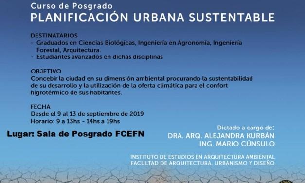 Curso de Posgrado: Planificación urbana sustentable