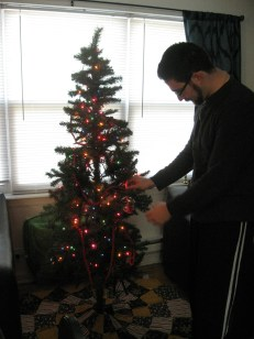Hanging one of our tassel ornaments