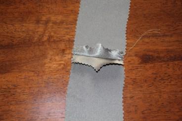 Seam ironed flat