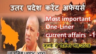 Photo of (Hindi) Uttar Pradesh Current Affairs 2018-19 || UPPSC,Up Police 100+महत्वपूर्ण करंट अफेयर्स