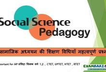 Photo of Social Science Pedagogy: सामाजिक अध्ययन की शिक्षण विधियाँ महत्वपूर्ण प्रश्न
