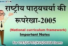 Photo of NCF-2005: राष्ट्रीय पाठ्यचर्या की रूपरेखा 2005 नोट्स  For CTET/UPTET/KVS/DSSSB
