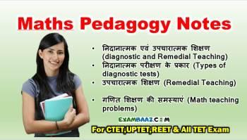 Maths Pedagogy Important Notes In Hindi