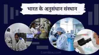 भारत के प्रमुख अनुसंधान संस्थान केंद्र | List of research institutes in India