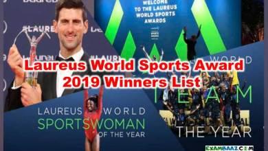 Photo of Laureus World Sports Award 2019 Winners List| Sports Current Affairs