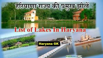Lakes of Haryana