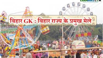 Photo of बिहार जीके : बिहार राज्य के प्रमुख मेले (list of Fairs in Bihar)