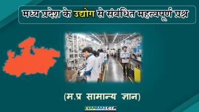 Photo of मध्य प्रदेश के उद्योग से संबंधित महत्वपूर्ण प्रश्न | MP GK
