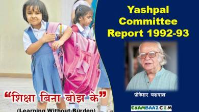 Photo of Yashpal Committee Report Important Questions – यशपाल समिति 1992-93