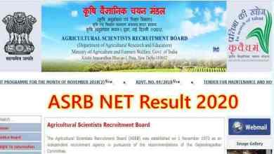 Photo of ASRB NET Result 2020: Cut Off Marks, Merit List [Get Direct link]