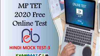 Photo of MP TET Online Test 2020    Free Subject wise Test