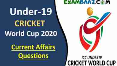 Photo of ICC Under-19 World Cup 2020 Current Affairs Questions