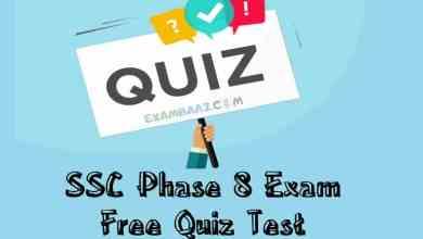 Photo of SSC Phase 8 Exam Free Quiz Test- 2020 [Important English Quiz]