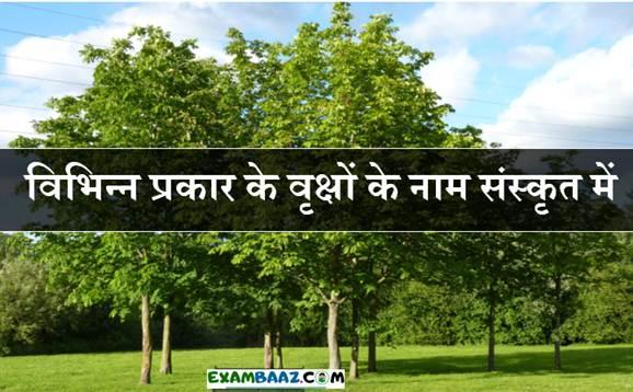 Trees Name In Sanskrit