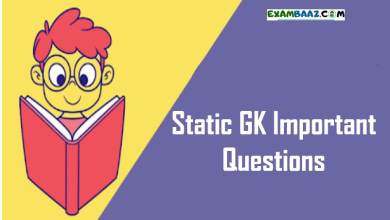 Photo of Static GK Important Questions For SSC CGL, RRB NTPC