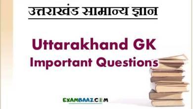 Photo of Uttarakhand GK Important Questions || UK GK In Hindi