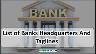 Photo of All Banks Headquarters And Taglines 2020 || Static GK