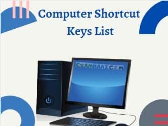 Computer Shortcut Keys List For RRB NTPC, Bank, SSC Exam