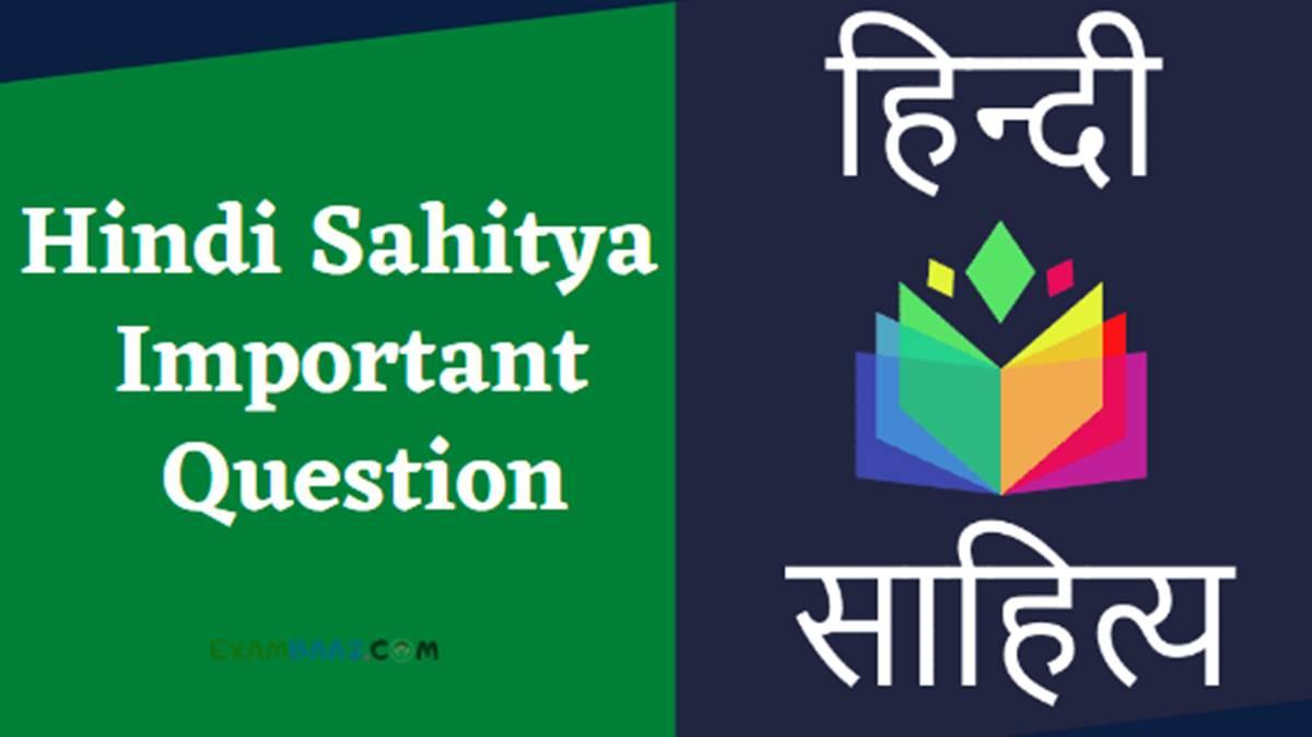 hindi sahitya important question