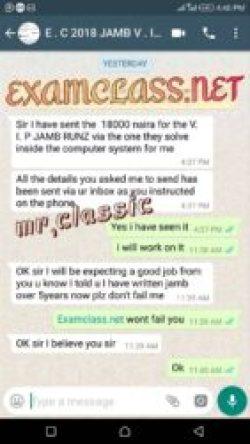 Jamb examclass whatsapp chat proof 7