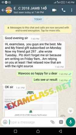 13 Jamb examclass whatsapp chat proof
