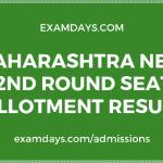 Maharashtra NEET 2nd Round Seat Allotment Result