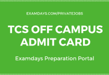 tcs off campus admit card