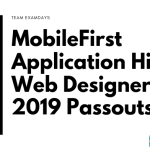 MobileFirst Application Hiring Web Designer 2019 Pass Outs