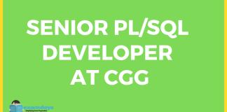 Senior PLSQL Developer & DBA at CGG