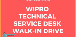 Wipro Technical Service Desk Walk-In Drive