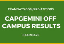 capgemini off campus results