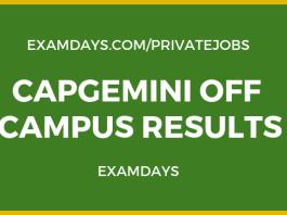 capgemini off campus results